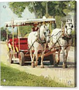 Horse Carriage Mackinac Island Michigan Acrylic Print