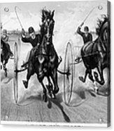 Horse Racing, 1890 Acrylic Print