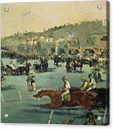 Horse Racing Acrylic Print