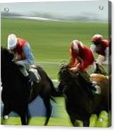 Horse Racing, Ireland Jockeys Racing Acrylic Print