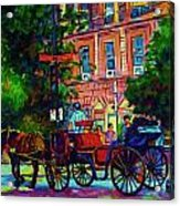 Horsedrawn Carriage Acrylic Print