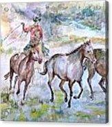 Horsemen Acrylic Print