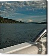 Horsetooth Reservoir Port Side View Acrylic Print by Harry Strharsky