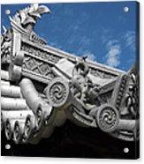 Horyu-ji Temple Roof Gargoyles - Nara Japan Acrylic Print