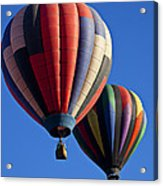 Hot Air Ballons Floating High Acrylic Print