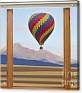 Hot Air Balloon Colorado Wood Picture Window Frame Photo Art Vie Acrylic Print