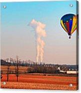 Hot Air Balloon Near Limerick Pa Acrylic Print