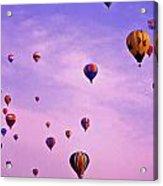 Hot Air Balloon Race - 1 Acrylic Print