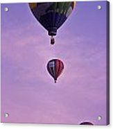Hot Air Balloon Race - 3 Acrylic Print