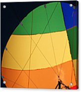 Hot Air Balloon Rigging Acrylic Print