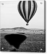 Hot Air Balloon Shadows Acrylic Print