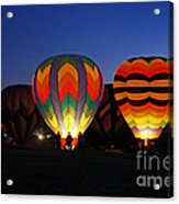 Hot Air Balloons At Dusk Acrylic Print