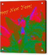 Hot As A Pepper New Year Greeting Card Acrylic Print
