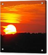 Hot August Sunset In Texas Acrylic Print by Rebecca Cearley