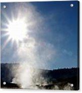 Hot Springs Sunshine Acrylic Print