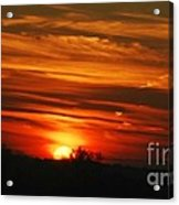 Hot Summer Night Sunset Acrylic Print