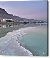 Hotel On The Shore Of The Dead Sea Acrylic Print
