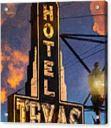 Hotel Texas Acrylic Print by Jeff Steed