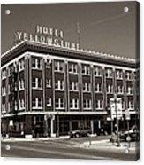 Hotel Yellowstone Acrylic Print