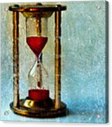 Hour Glass Dripping Blood Acrylic Print
