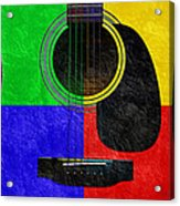 Hour Glass Guitar 4 Colors 1 Acrylic Print