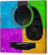 Hour Glass Guitar 4 Colors 3 Acrylic Print