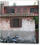 House And Scooter Rome Italy Acrylic Print