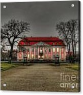 House Illuminated And With Trees Branches Acrylic Print