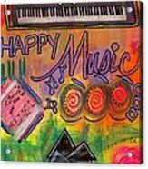House Of Happy Music Acrylic Print