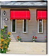 House With Red Shades. Acrylic Print