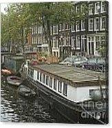 Houseboats Of Rotterdam Acrylic Print