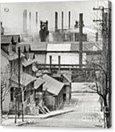 Houses And Steelmill Acrylic Print