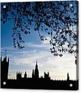 Houses Of Parliament Silhouette Acrylic Print