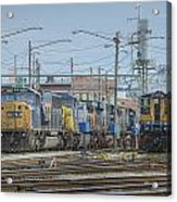 Howell Yards Evansville Indiana Acrylic Print by Jim Pearson