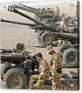 Howitzer 105mm Light Guns Are Lined Acrylic Print