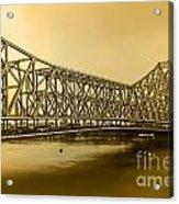 Howrah Bridge Acrylic Print by Mukesh Srivastava