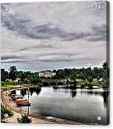 Hoyt Lake Delaware Park 0001 Acrylic Print
