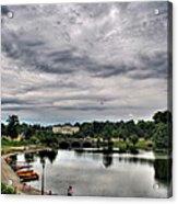 Hoyt Lake Delaware Park 0003 Acrylic Print