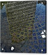Hsbc Plaza Reflection Acrylic Print