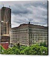 Hsbc Tower    Ellicott Square Buliding Acrylic Print