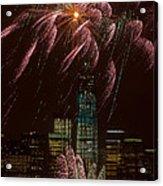 Hudson River Fireworks X Acrylic Print