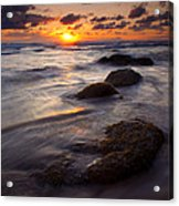 Hug Point Tides Acrylic Print