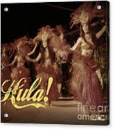 Hula Daguerreotype Acrylic Print