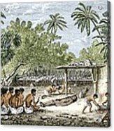 Human Sacrifice In Tahiti, Artwork Acrylic Print