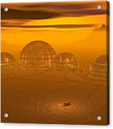 Human Settlement On Alien Planet Acrylic Print