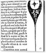 Human Sperm - 17th Century Acrylic Print