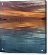 Humboldt Bay Dusk Acrylic Print
