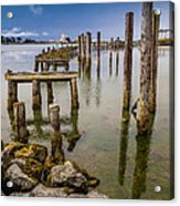 Humboldt Bay Over Darkening Skies Acrylic Print