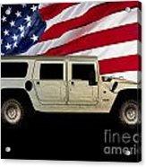 Hummer Patriot Acrylic Print