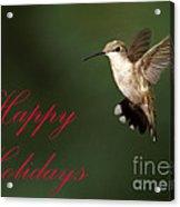 Hummingbird Holiday Card Acrylic Print